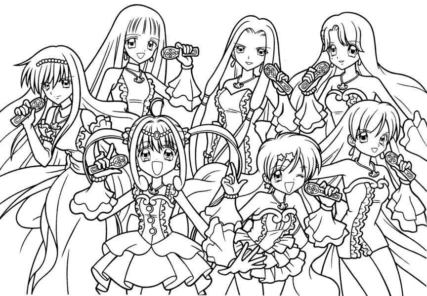 Hanon mermaid melody coloring pages - Hellokids.com | 600x864