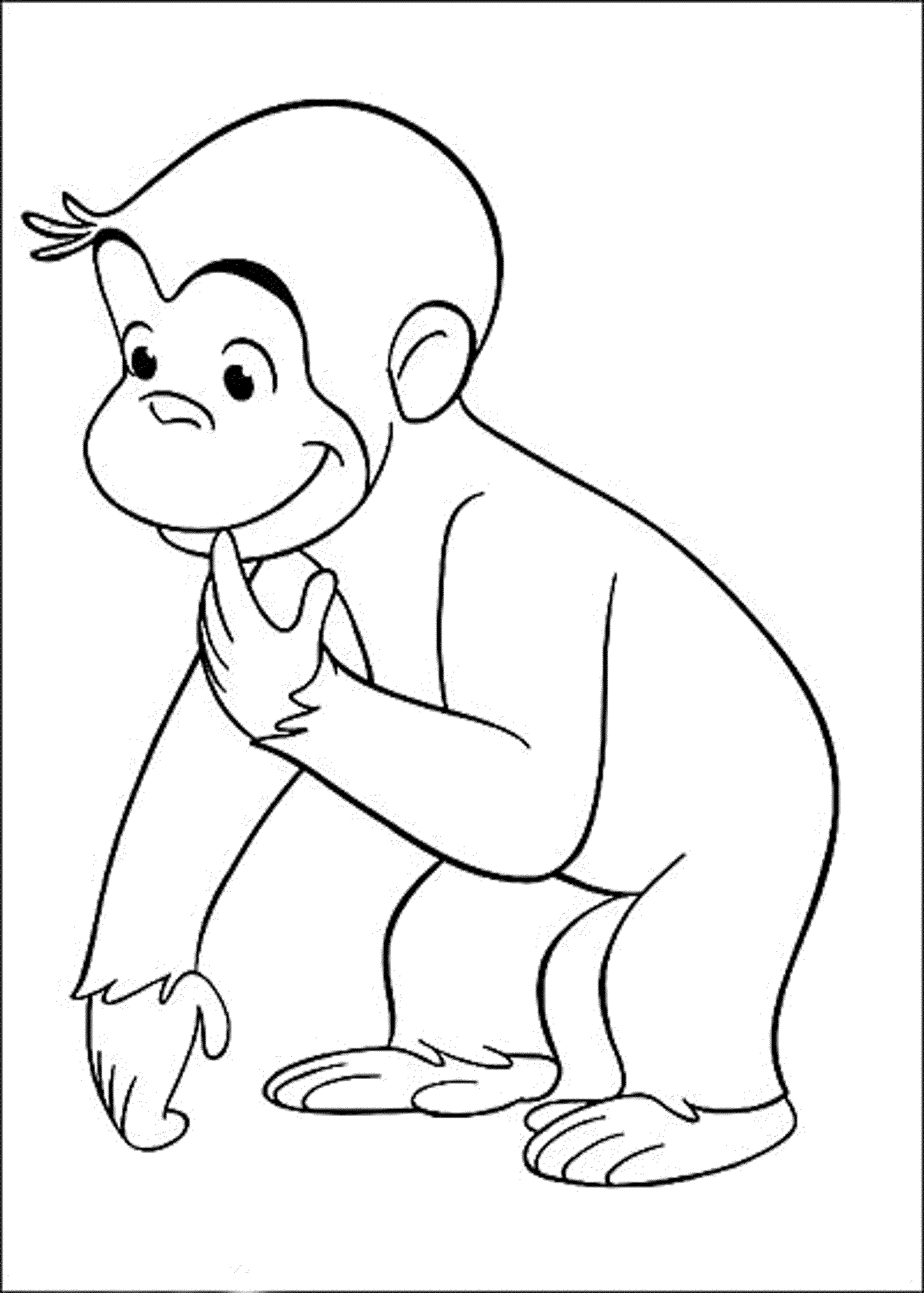 curious george coloring pages - photo#8