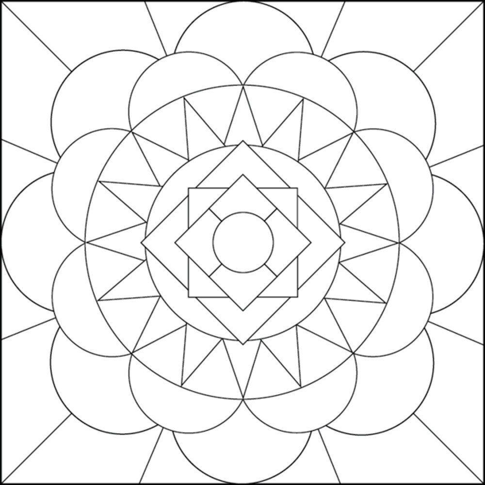 geometric art coloring book