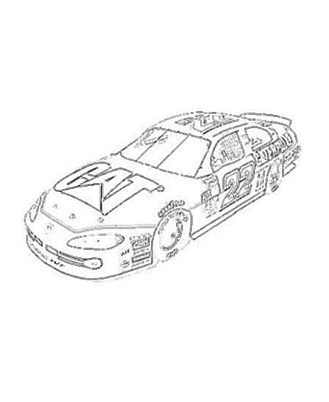 nascar printable coloring pages - photo#13