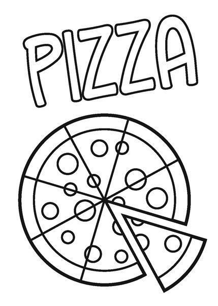 Coloring pages, Pizza and Coloring