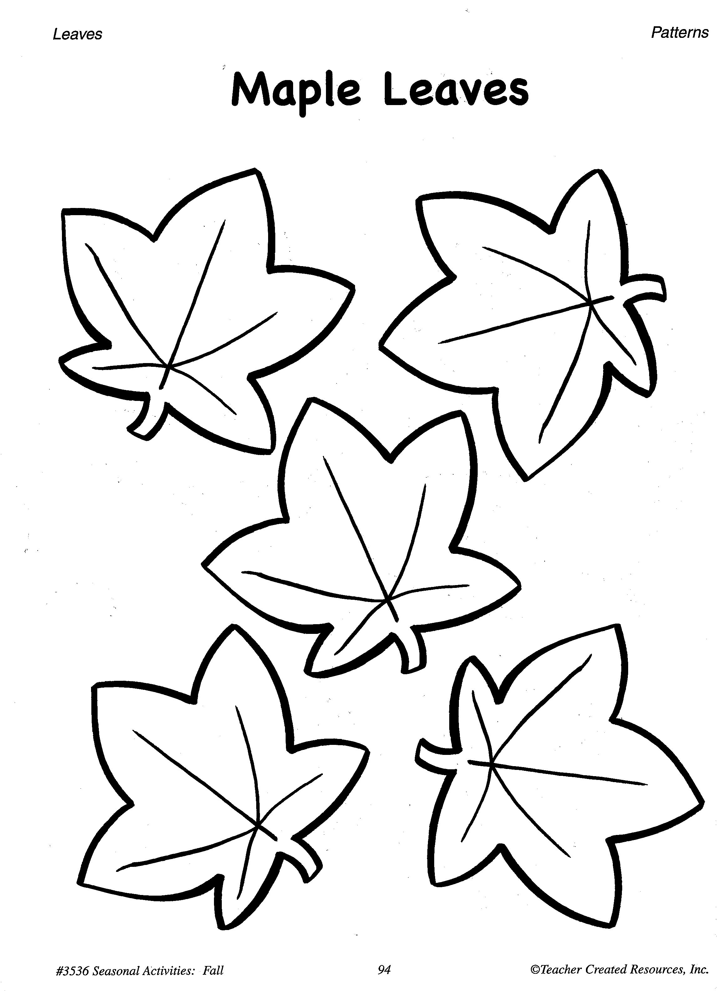 Traceable Leaf Patterns - Coloring Home