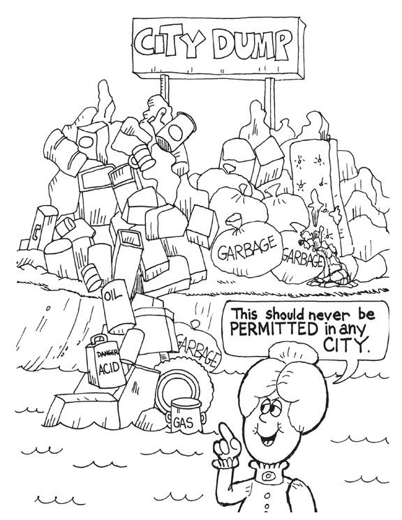 pollution coloring pages - photo#14