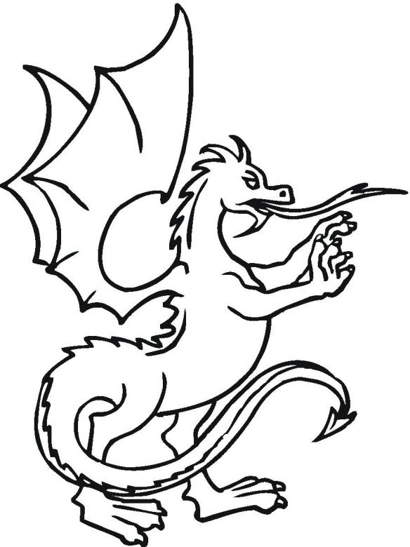 Medieval Dragon Coloring Pages Coloring Home Midevil Dragons Coloring Pages
