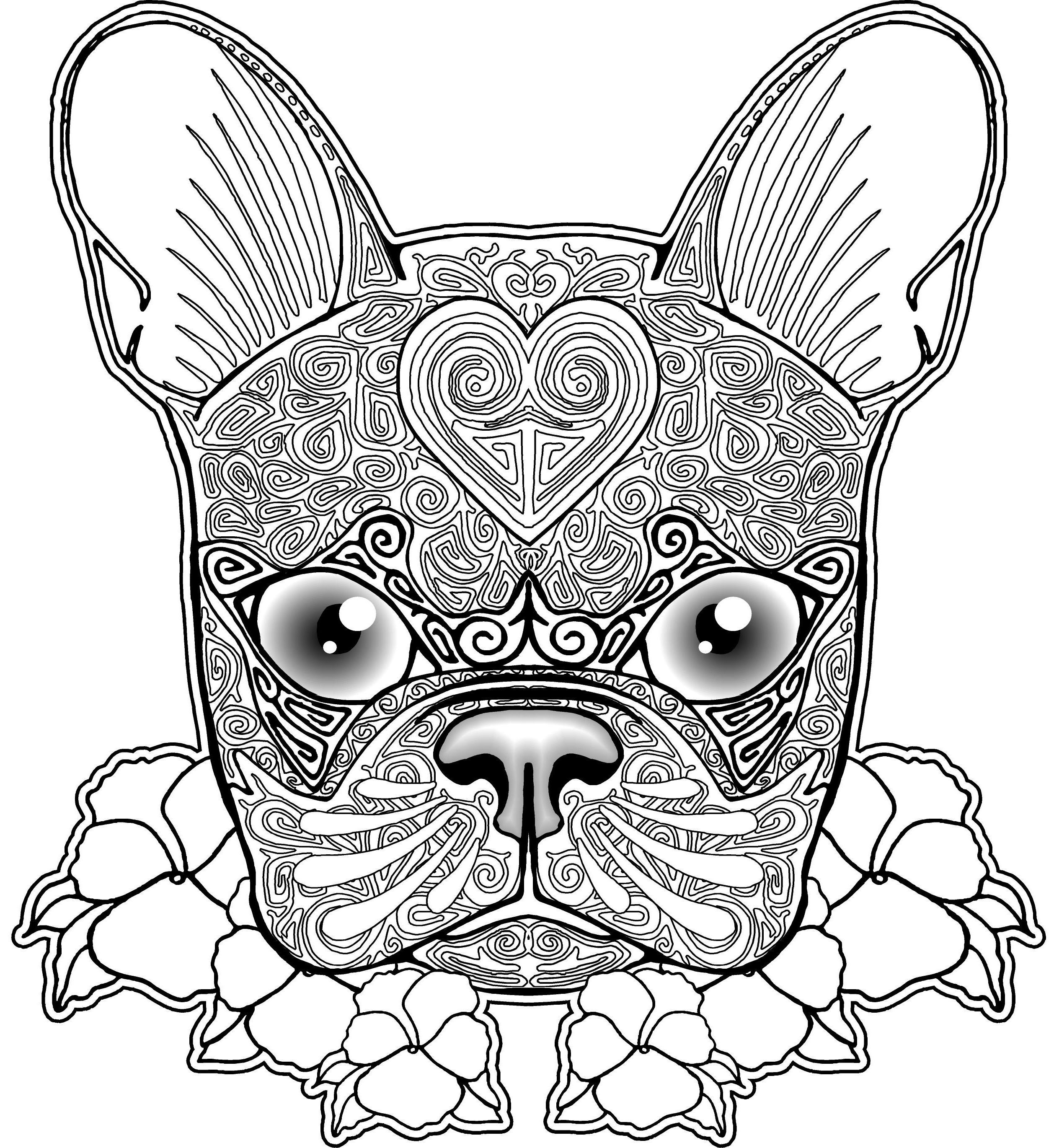 coloring pages of puppies hard - photo#32