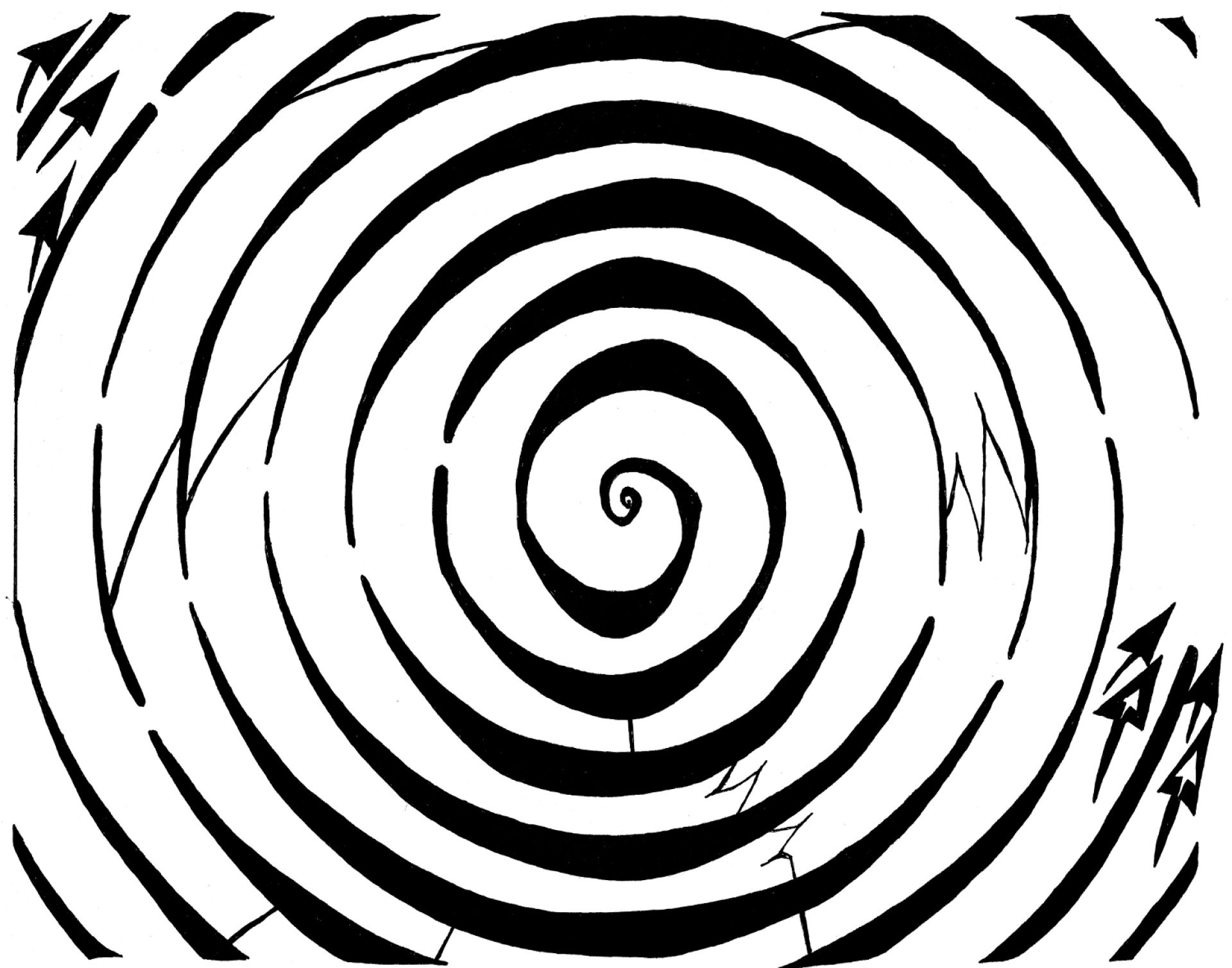 optical illusion maze illusions coloring spiral printable pages eliptical dopler clipart yonatan frimer awesome eye mazes drawing cliparts tiger artists