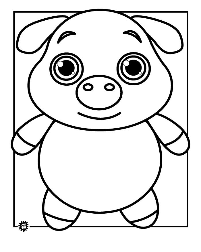 Pig Face Coloring Pig Face Coloring Page...
