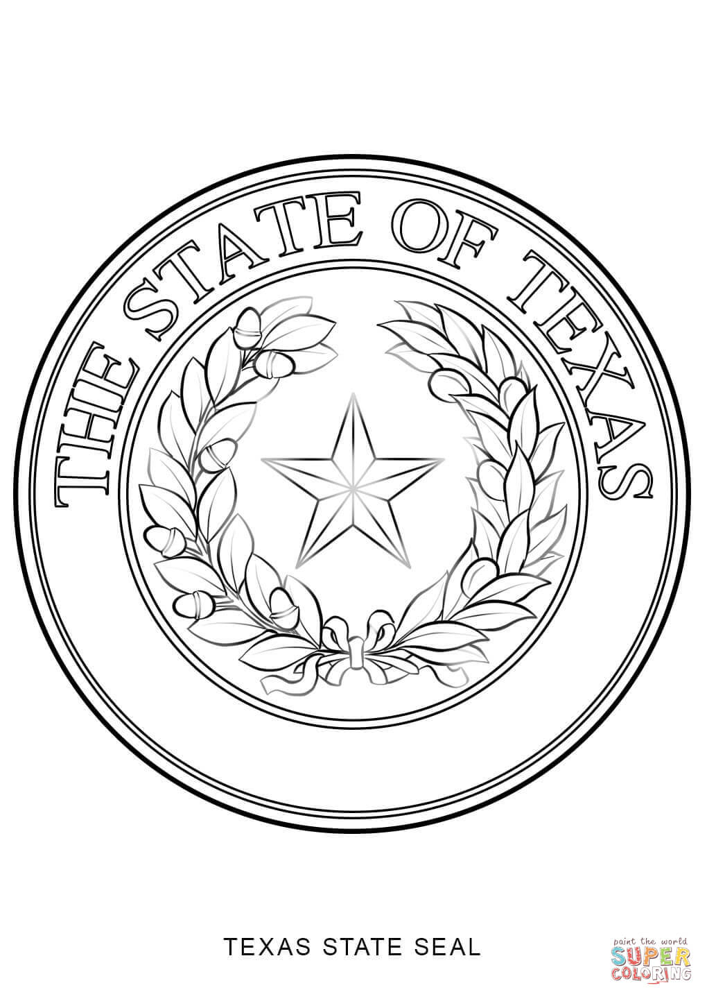 Texas state symbols coloring pages coloring home for Arizona state seal coloring page
