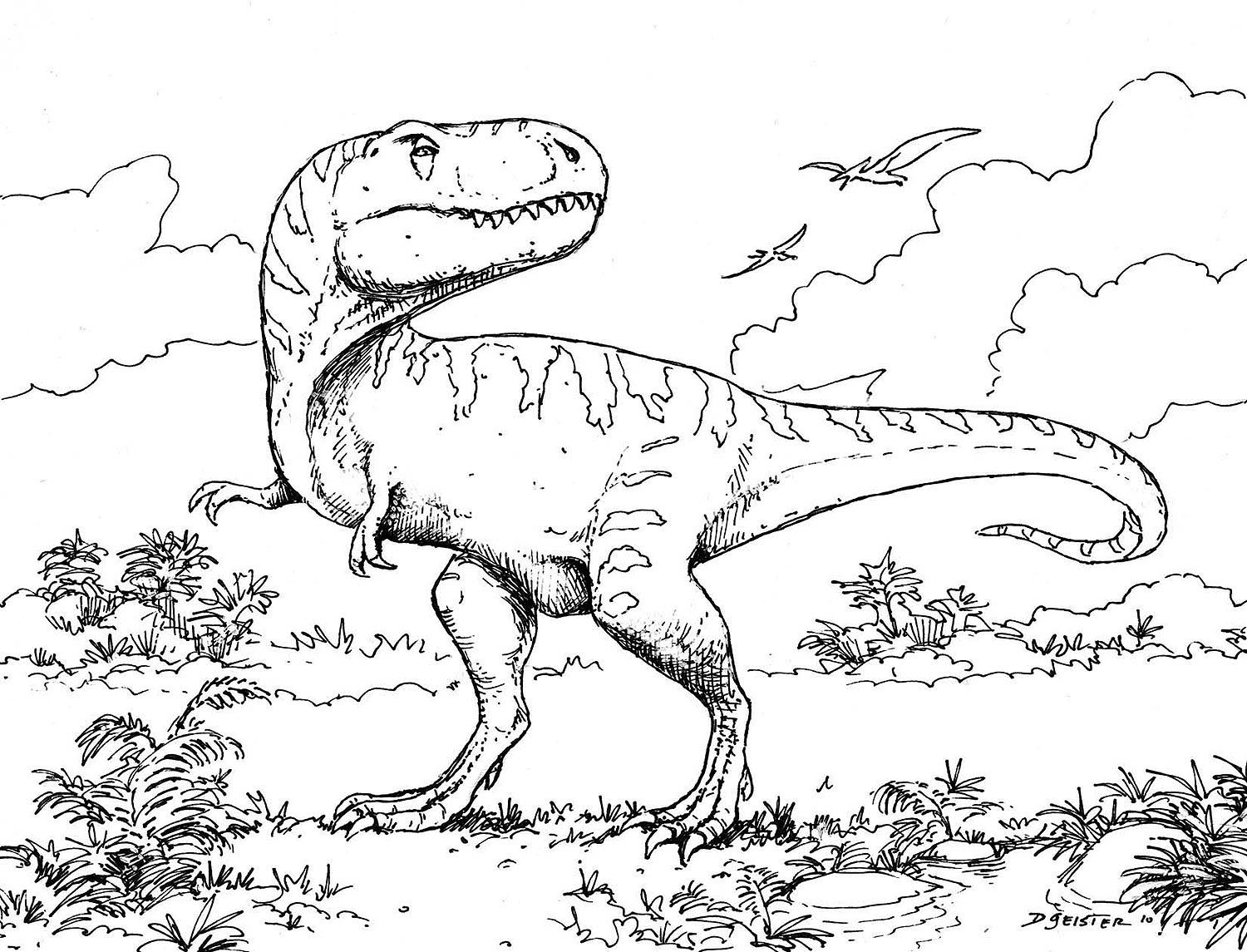 Raptor dinosaur coloring pages - Print Out Dinosaur Coloring Pages Cooloring Com