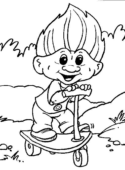 Decisive image inside trolls printable coloring pages