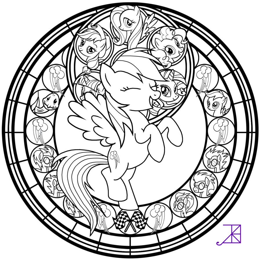 DeviantArt: More Like MLP Stained Glass Coloring Book by Akili ...