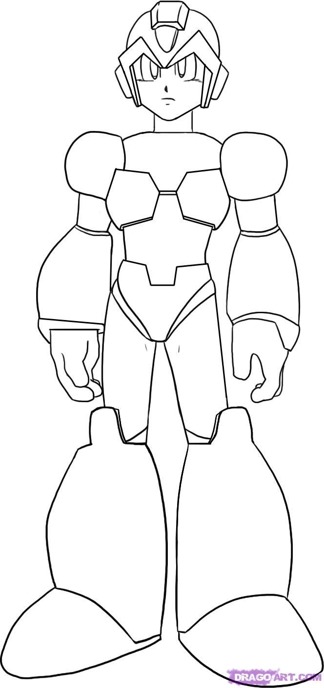 Megaman Coloring Pages For Kids And S