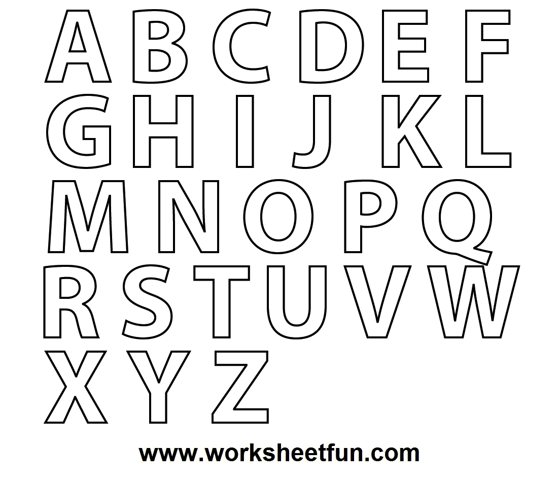 Coloring Pages Alphabet A Z : Free printable alphabet coloring pages a z az