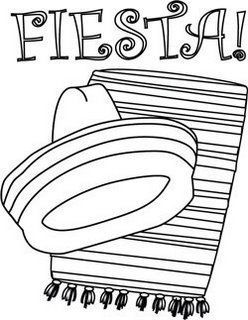 Mexican Fiesta - Coloring Pages for Kids and for Adults