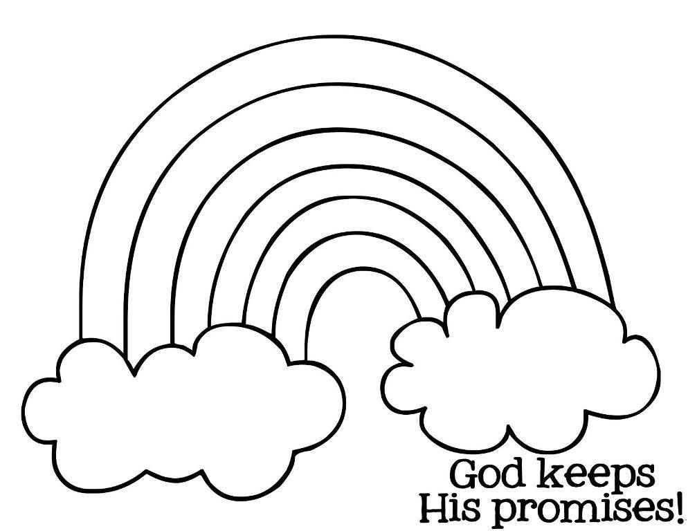 Preschool Coloring Pages Of Rainbows - Coloring Home