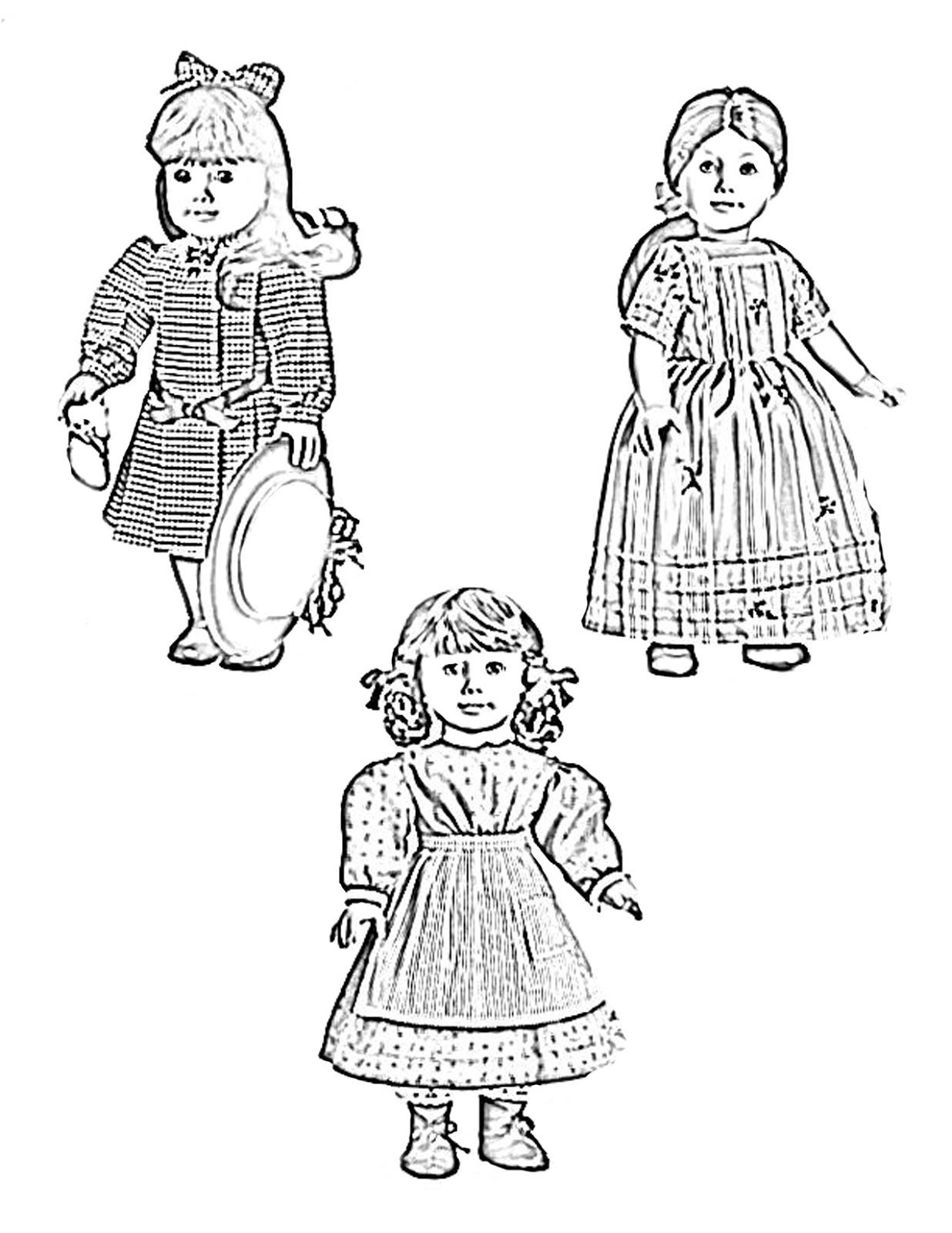 American Doll Accessories Coloring Pages - Coloring Pages For All Ages