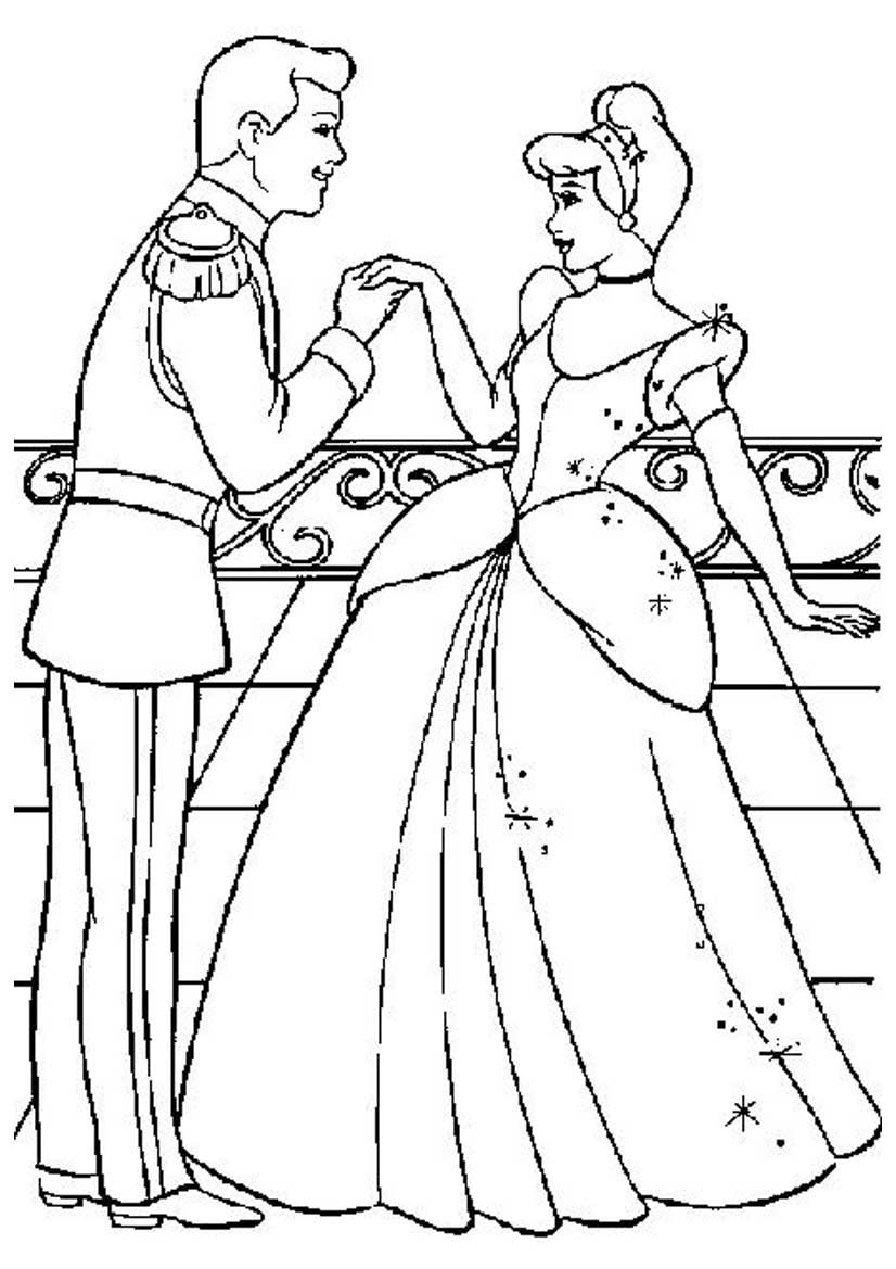 Disney Princess And Prince | Coloring Pages
