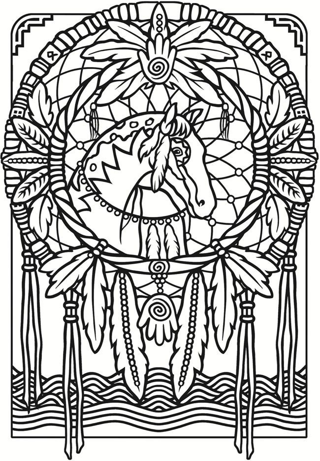 Coloring Pages Dream Catchers Coloring Home