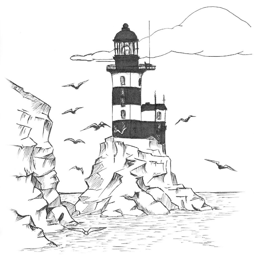 Realistic Lighthouse Coloring Pages - Coloring Home