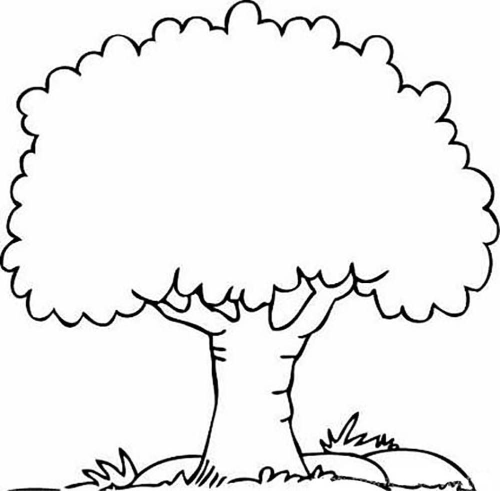 simple tree coloring pages - photo#1