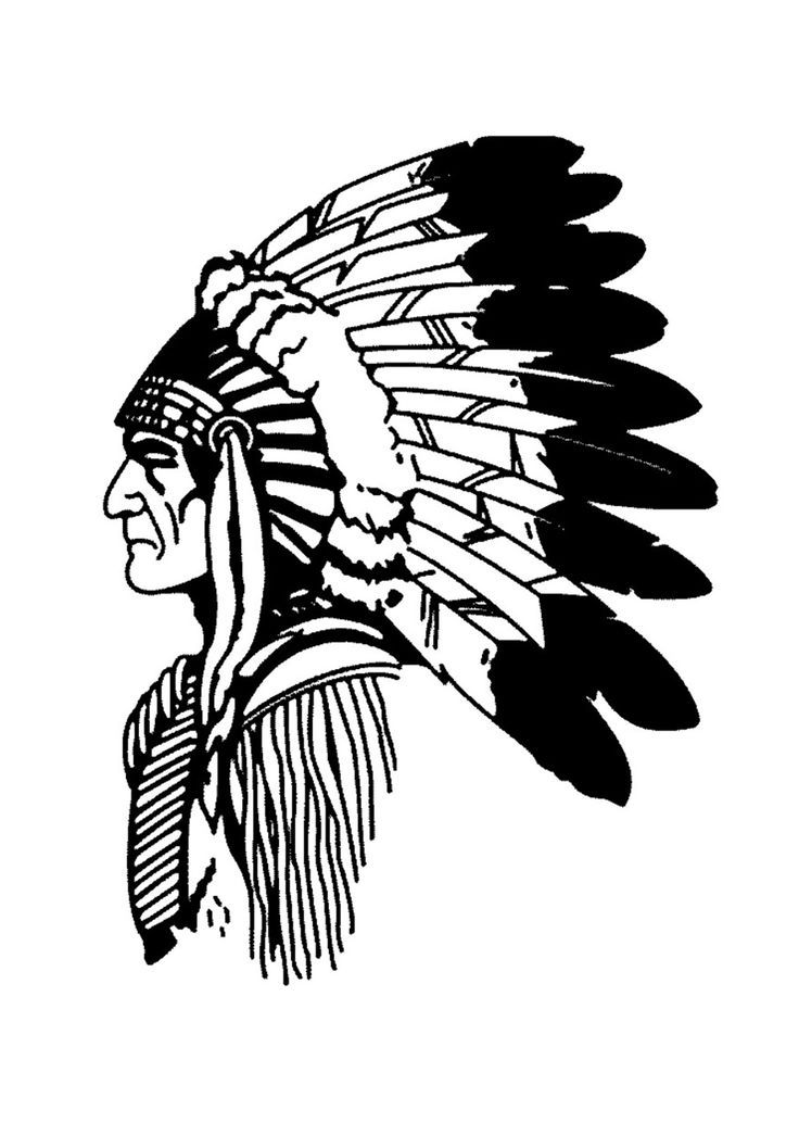 Free coloring page coloring-simple-native-american-profile. Simple ...