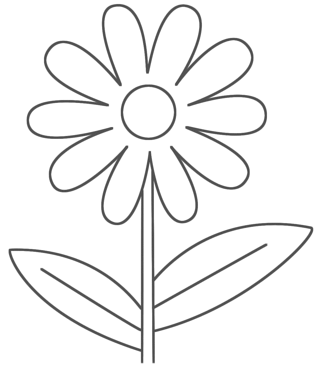 Easy Printable Flower Coloring Pages | Flower Coloring pages of ...