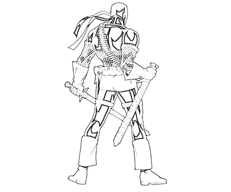 People Printable Deathstroke Coloring Pages Arkham Origins