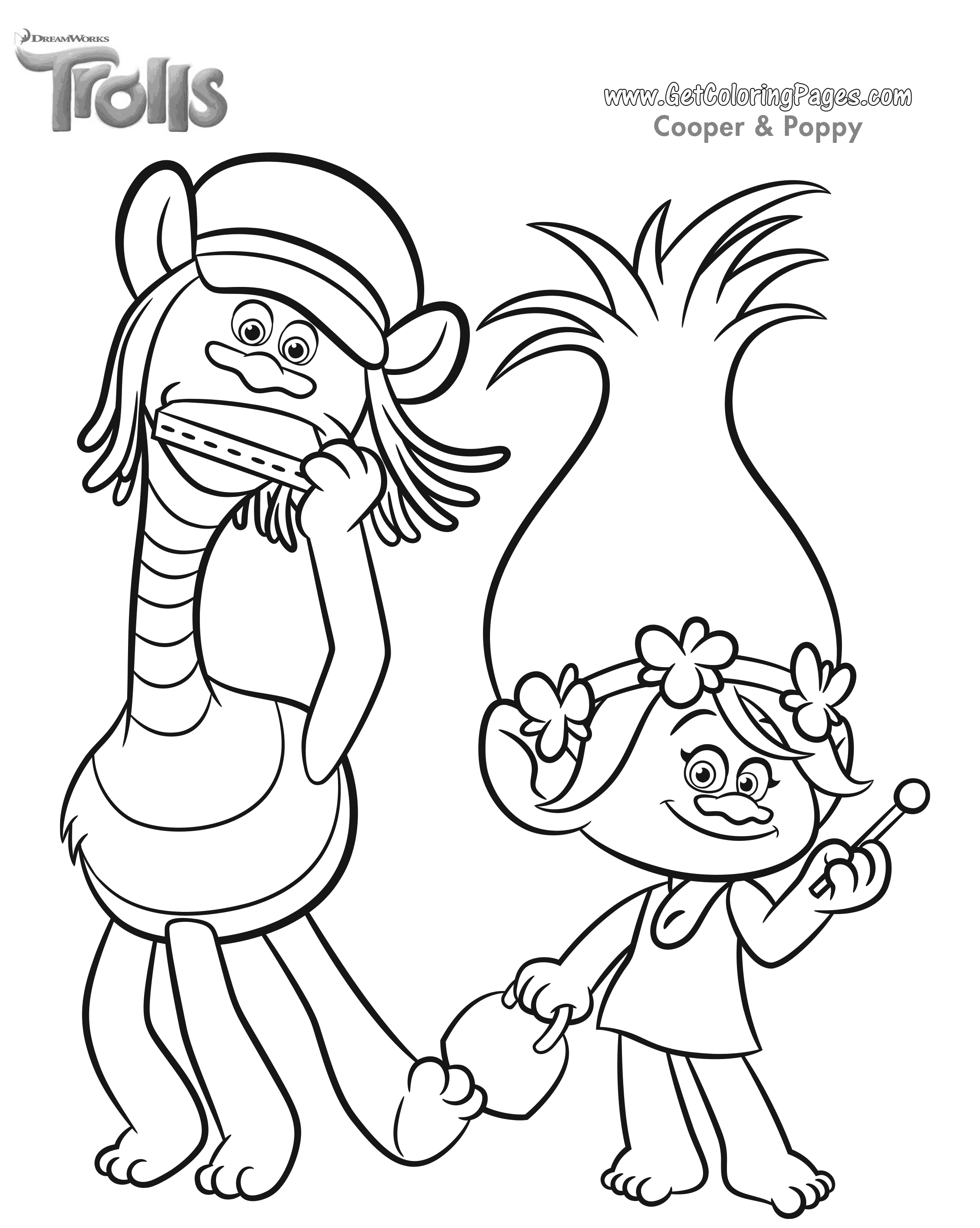 Dreamworks Trolls Coloring Pages - GetColoringPages.com