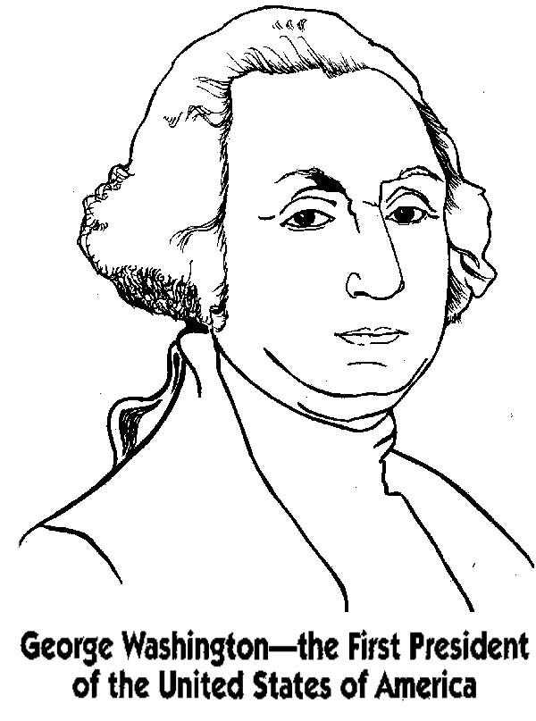 George Washington Coloring Pages - Coloring Home