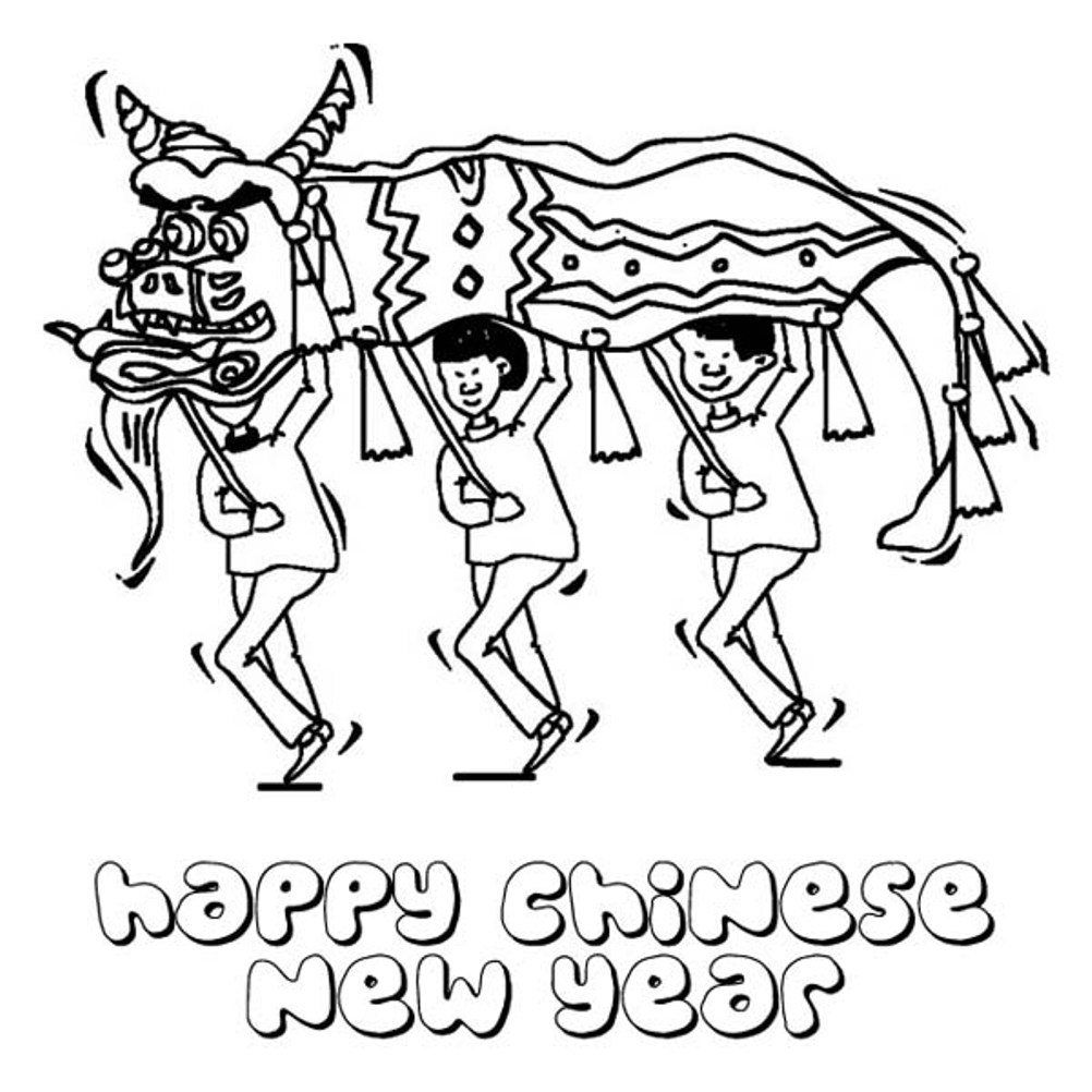 Chinese New Year Coloring Page - Coloring Home