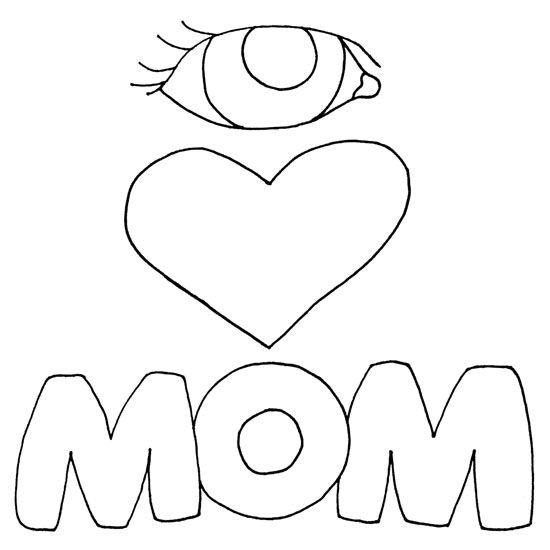 I Love You Coloring Pages Pdf : I love you mom coloring page card