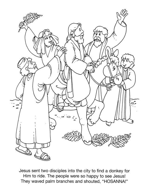 palm sunday coloring pages free coloring page