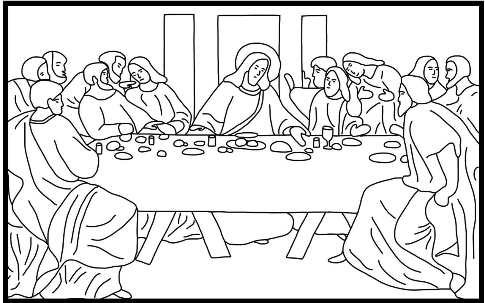 Free Printable Last Supper Coloring Pages Desi #1008 ...