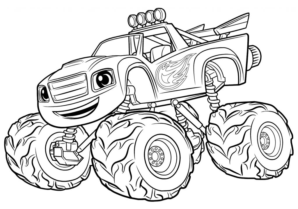 Blaze And The Monster Machine Coloring Pages - Coloring Home