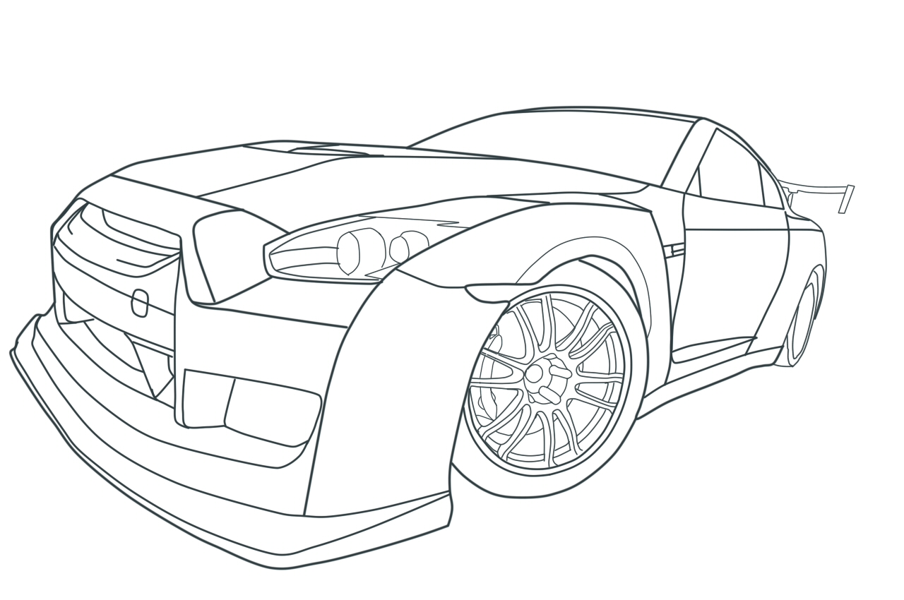 Gtr Coloring Pages Coloring Home