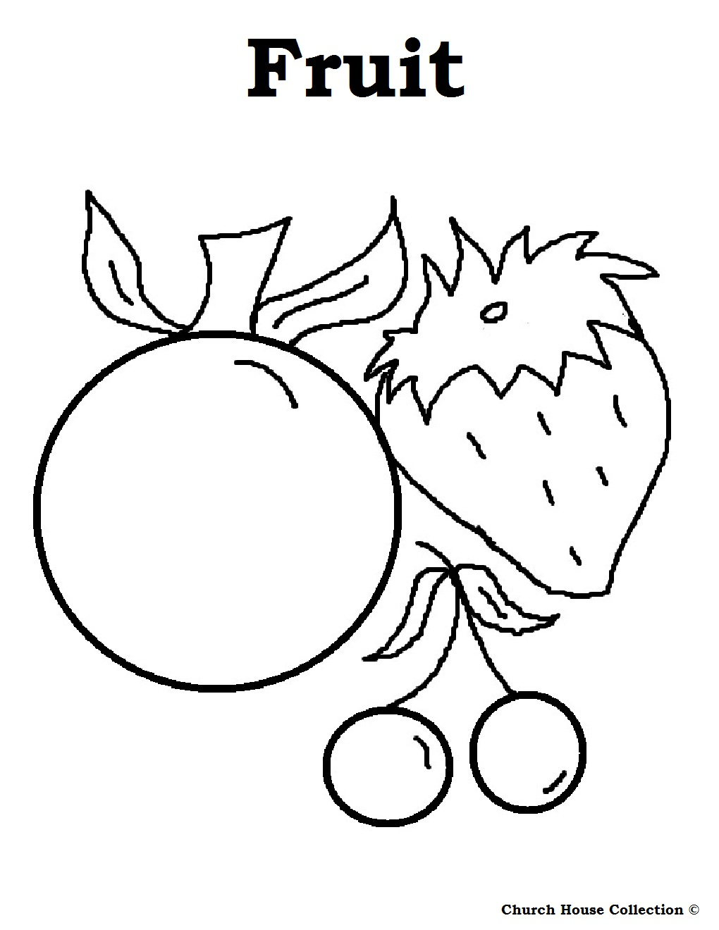 Fruit Coloring Page Free Food Pages Sheets Printable For –  Approachingtheelephant