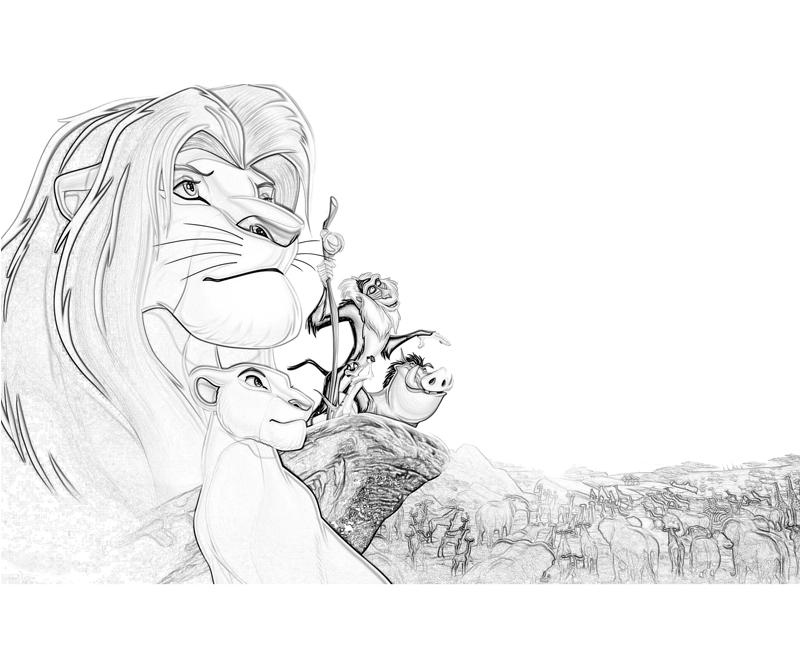 best lion king coloring pages - photo#35