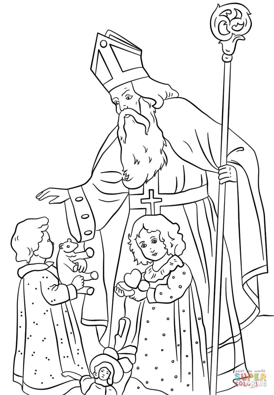 Раскраски про святого николая