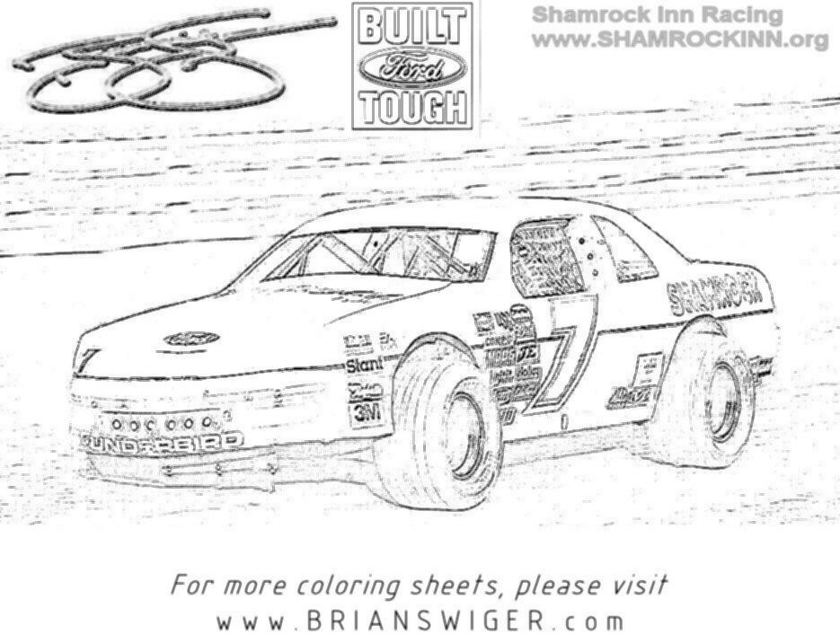 Race Car And Race Track Coloring Pages - Coloring Home