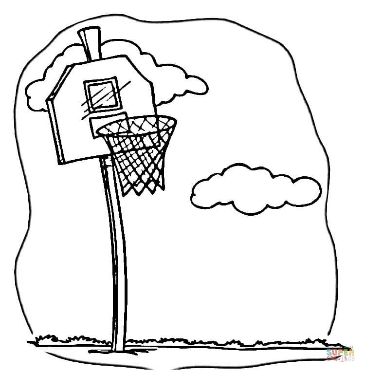 Basketball Team Lakers Coloring Page