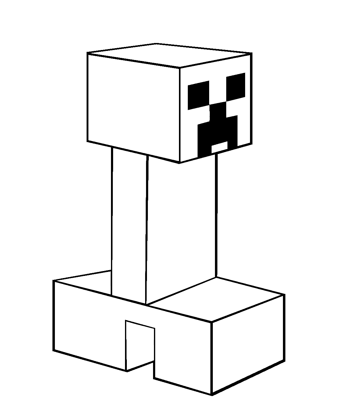 minecraft-creeper-coloring-pages - Coloring Kids
