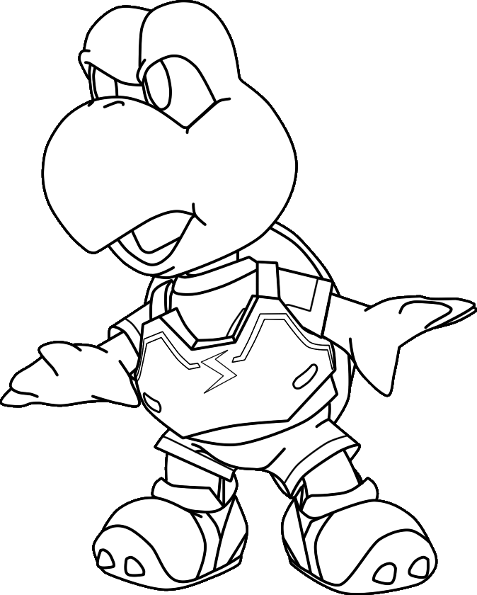 Koopa Troopa Drawing Koopa Troopa Coloring Pages