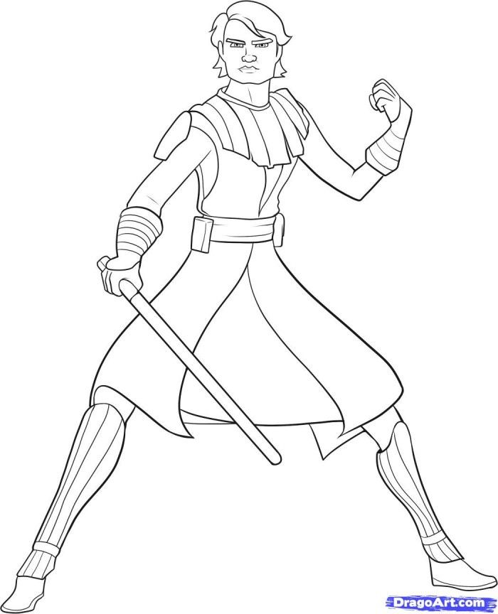 Star Wars Clone Colouring Pages