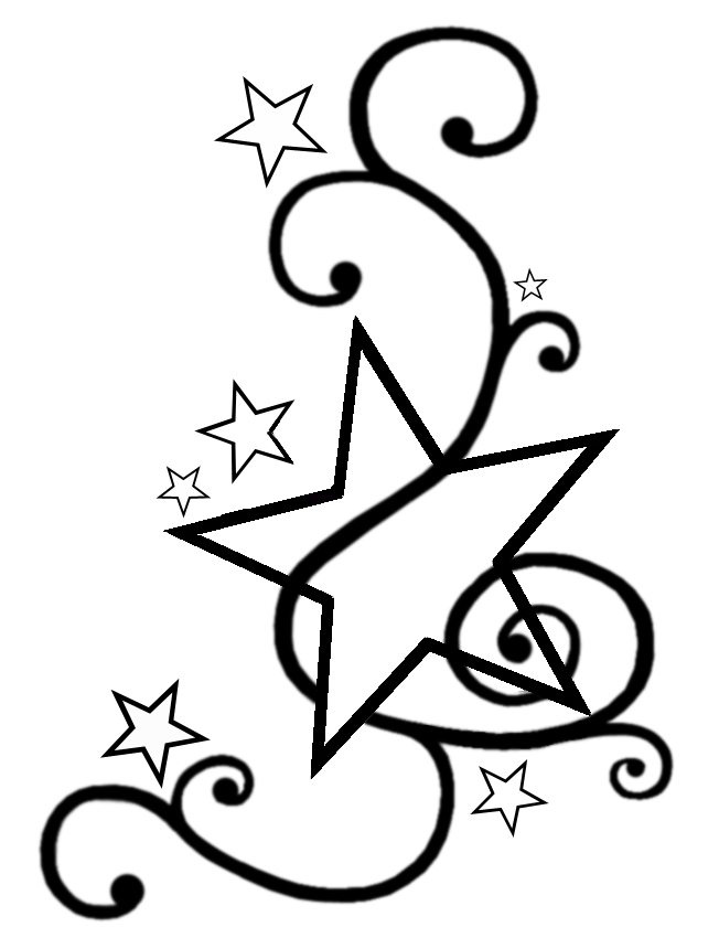 Star Outline Drawing Star Tattoo Outline Designs