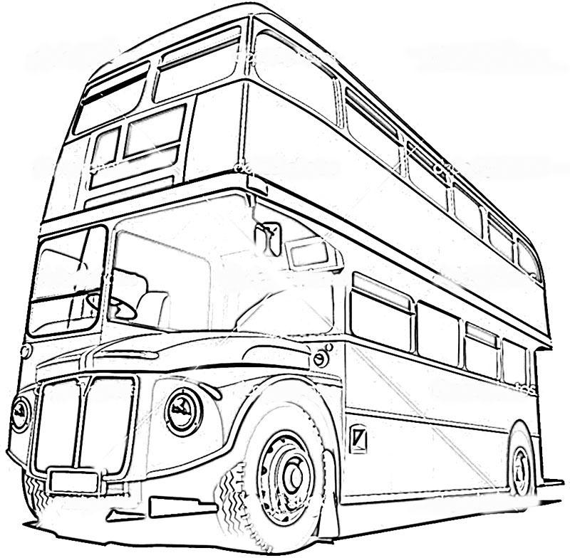 bus coloring pages. Black Bedroom Furniture Sets. Home Design Ideas