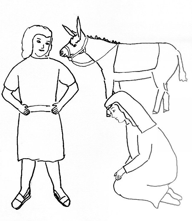 Bible Story Coloring Page for David and Abigail | Free Bible