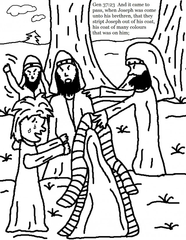 Joseph and the coat of many colors coloring page az for Joseph and the coat of many colors coloring page
