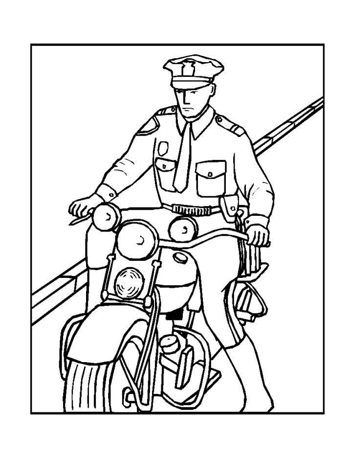policeman coloring pages kids - photo#5