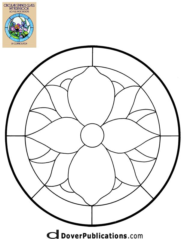 Rose Pattern Stained Glass Window Coloring Pages Az