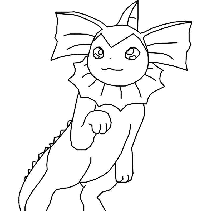 Vaporeon Coloring Pages